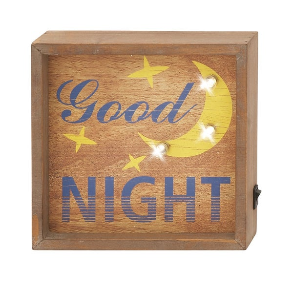 Wood LED Wall Sign 8-inch wide x 8-inch high