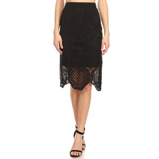 Jed Fashion Women's High Waist Lace Crochet Pencil Skirt