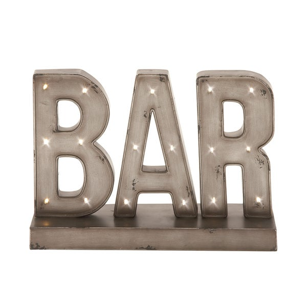 Metal LED Bar Sign 16-inch wide x 12-inch high