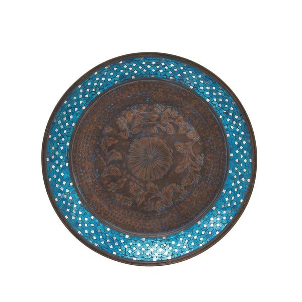 Metal Mosaic Wall Platter 28-inch deep