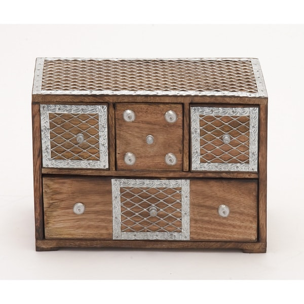 Box With Drawers & Metal Inlay 18111991
