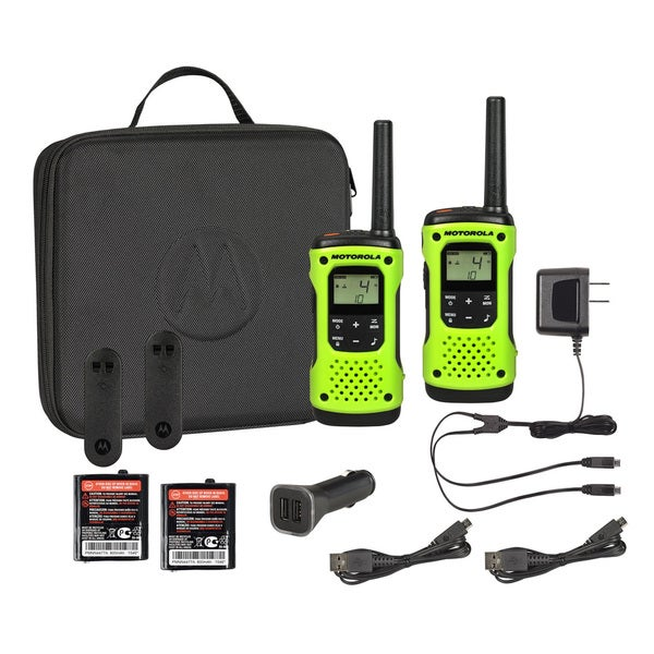T605 H2O Rechargeable Floating 2-Way Radio Twin Pack with Case and Car Charger 18112455