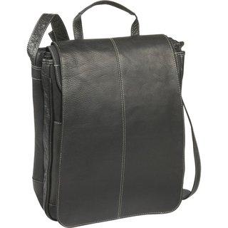 LeDonne Leather Vertical 15-inch Laptop Messenger Bag