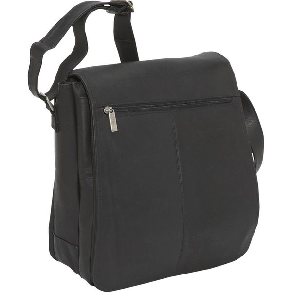 LeDonne Leather North/South 12-inch Laptop Messenger Bag