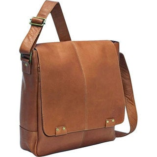LeDonne Leather Rivet 15-inch Laptop Messenger Bag