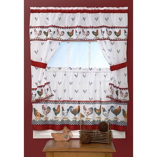 Top of the Morning Printed Tailored Cottage Curtain Tier Set