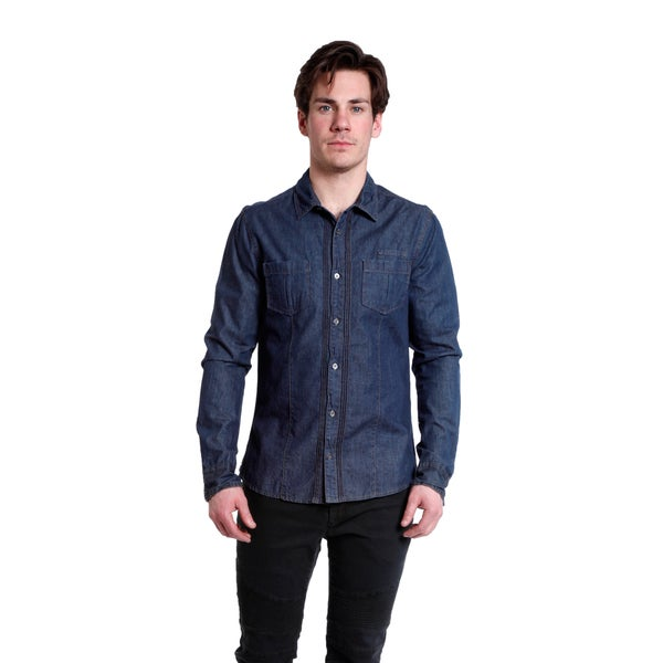 Excelled Soft and Lightweight Denim Button Front Shirt