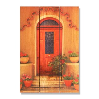 Tile Door -16x24 Indoor/Outdoor Full Color Cedar Wall Art