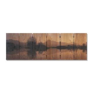 Still Lake -32x11 Indoor/Outdoor Full Color Cedar Wall Art