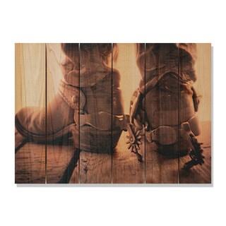 Show Down -33x24 Indoor/Outdoor Full Color Cedar Wall Art