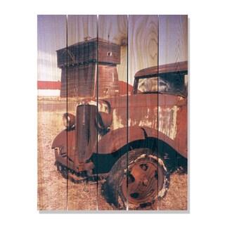 Rust Bucket -28x36 Indoor/Outdoor Full Color Cedar Wall Art