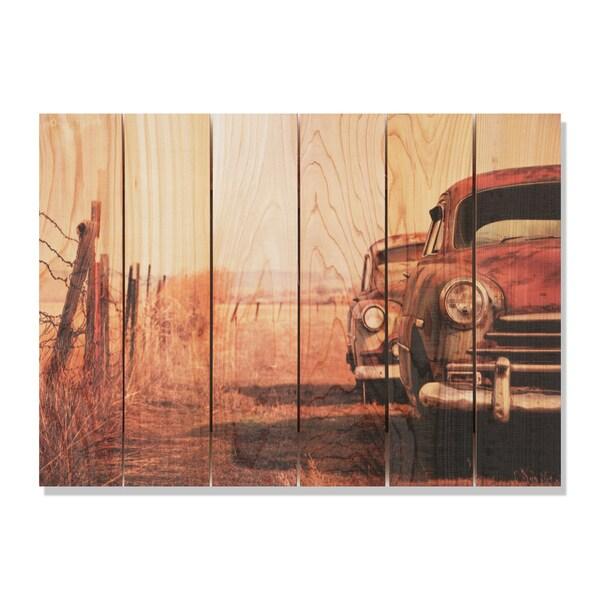 Rest Stop -33x24 Indoor/Outdoor Full Color Cedar Wall Art