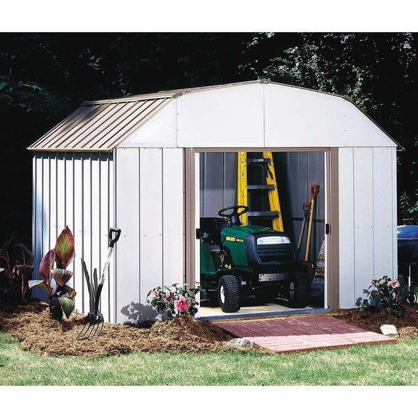 Arrow Lexington LX108-A 10 x 8 ft. Galvanized Steel Shed with 5 ft. Wall Height and Sliding Doors