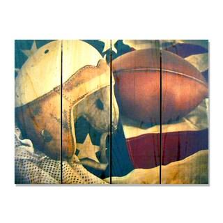 Leather Head - 22x16 Indoor/Outdoor Full Color Cedar Wall Art