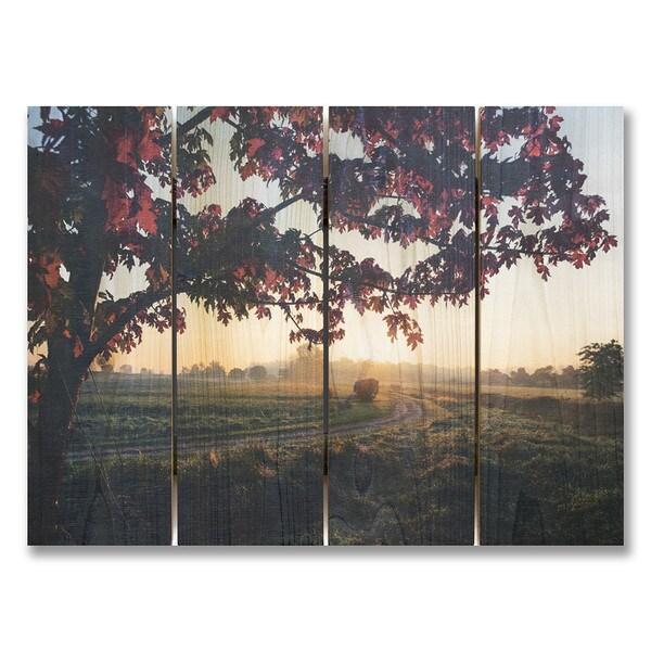 Autumn Sunset 22x16 Indoor/Outdoor Full Color Cedar Wall Art