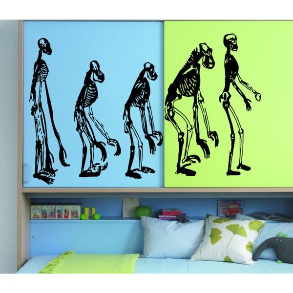 Evolution Skeleton Wall Art Sticker Decal 18114175