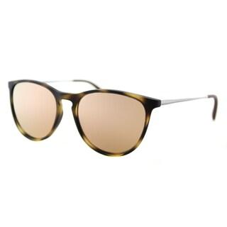 Ray-Ban RJ 9060S 70062Y Erika Junior Havana Rubber Round Pink Mirror Lens Sunglasses