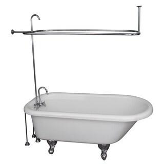 67-inch x 29.5-inch Soaking Bathtub Kit Finish: Chrome