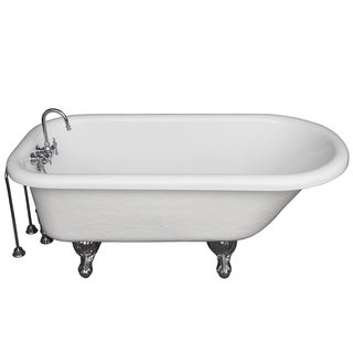 5-foot Acrylic Ball and Claw Feet Tub in White