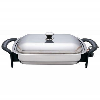 Precise Heat T304 Stainless Steel 16 Inch Rectangular Electric Skillet