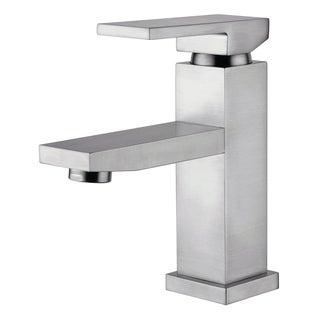 Dana Brushed Nickel Finish Single Handle Bathroom Faucet