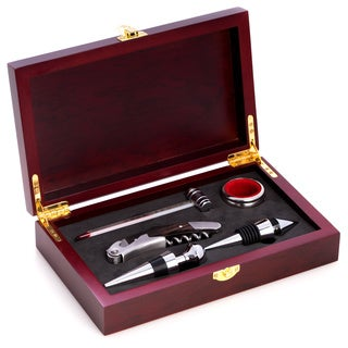 5 Piece Wine Set in Rosewood Box