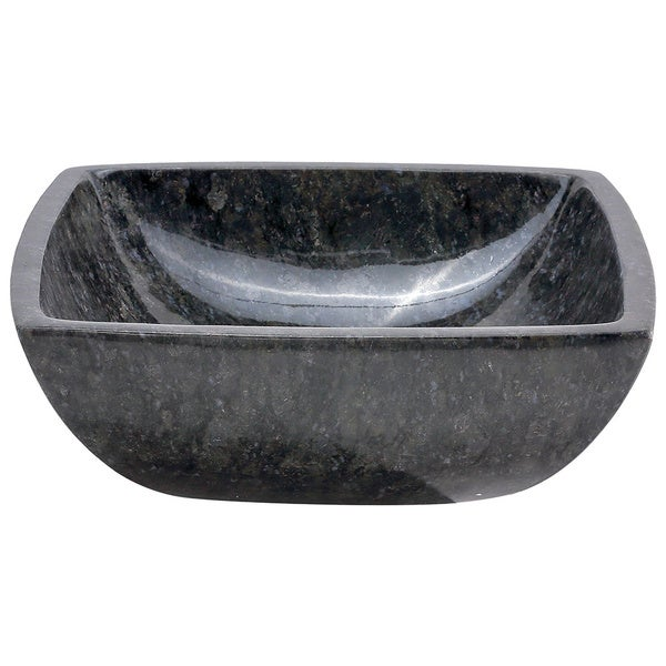Constance Butterfly Blue Stone Square Basin Vessel Sink - 18601178 ...