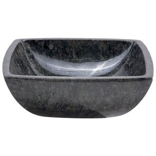 Constance Butterfly Blue Stone Square Basin Vessel Sink