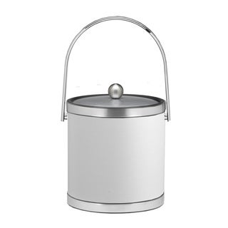 Sophisticates with Brushed Chrome 3-quart Ice Bucket with Track Handle and Metal Cover