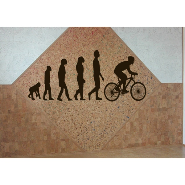 Evolution cycle racing Wall Art Sticker Decal Brown