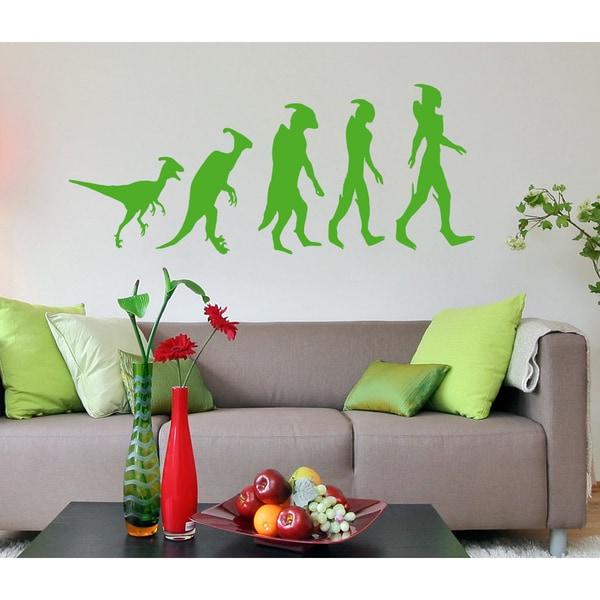 Evolution Aliens Wall Art Sticker Decal Green