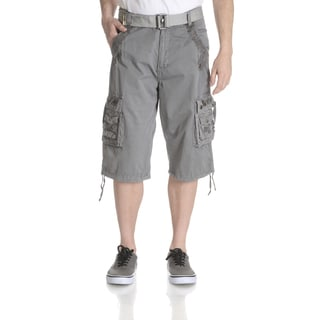 Repair Mens Belted Grommet Detail Cargo Short