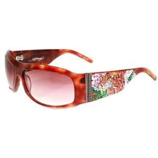 Ed Hardy EHS-007 Alive Aware Tortoise/Brown Sunglasses