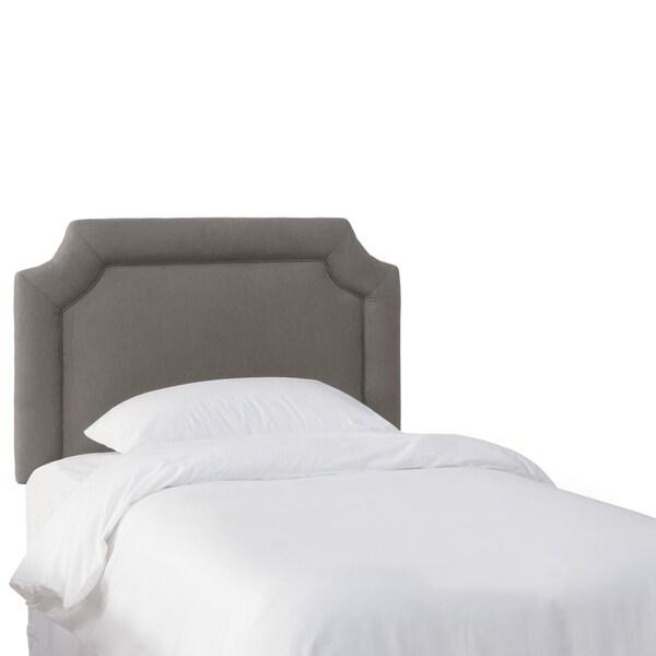 Skyline Furniture Kids Grey Linen Notched Headboard