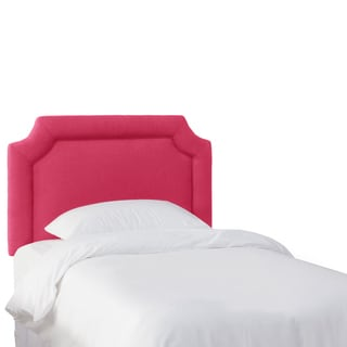 Skyline Furniture Kids Fuschia Linen Notched Headboard