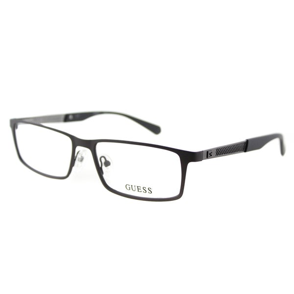 Guess GU 1860 009 Matte Brown Metal Rectangle 54mm Eyeglasses