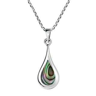 Abalone Shell Teardrop Beauty Sterling Silver Jewelry Set (Thailand)