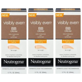 Neutrogena Visibly Even BB Cream Fair to Light (Pack of 3)