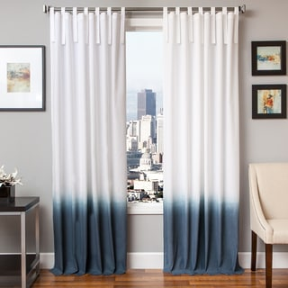 Tie Tab Ombre Cotton and Linen Curtain Panel