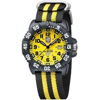Luminox Men's Sea Navy Seal Colormark 3050 Series Two-Tone Yellow Dial Watch