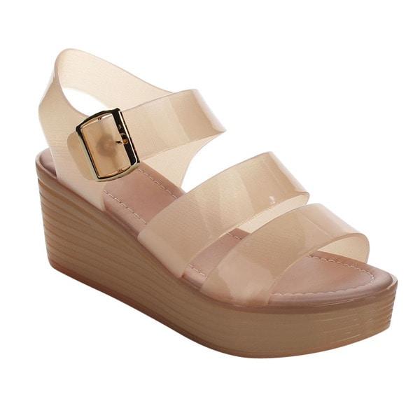Beston Jelly Chunky Strap Platform Sandals