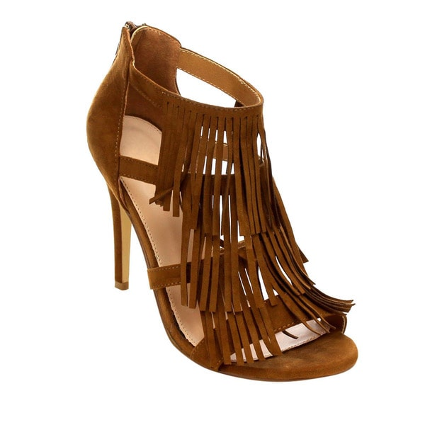 Beston Fringe Stiletto Heels