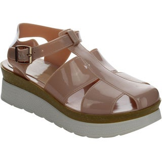 Beston Jelly Platform Sandals