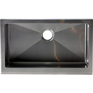 Hardy Apron Farmhouse Single Bowl Stainless Steel Kitchen Sink