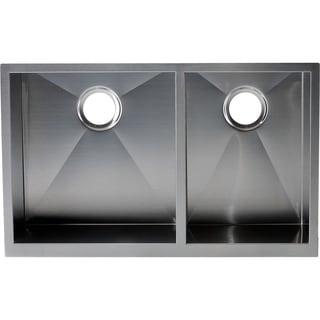 Hardy Apron Farmhouse Sink Double Bowl Stainless Steel Kitchen Sink