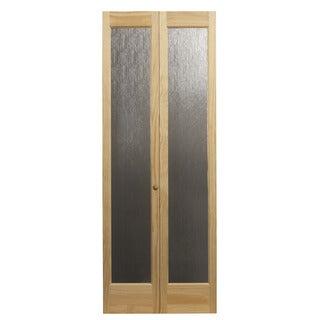 AWC 937 Aspen Full Glass 24-inch x 80.5-inch Unfinished Bifold Door