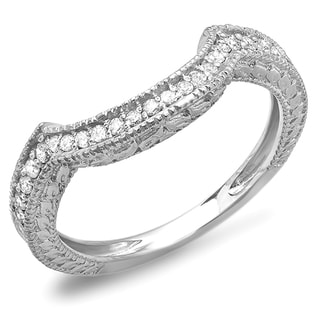 14k White Gold 1/3ct TDW Round Diamond Anniversary Wedding Band (H-I, I1-I2)