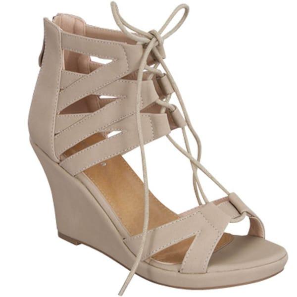 Beston Gladiator Wedge Sandals