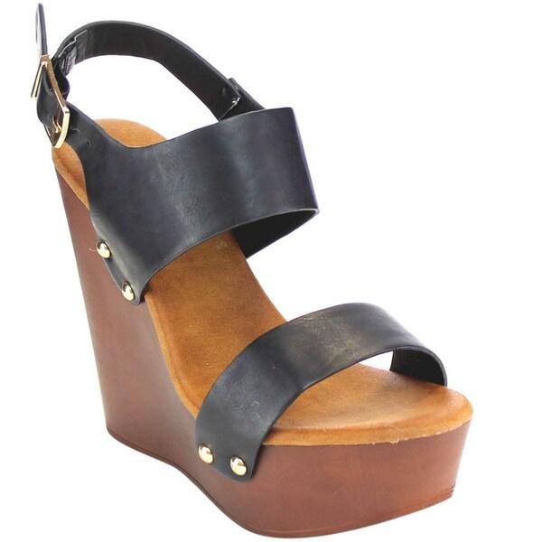 Beston Studs Wedge Sandals 18138516