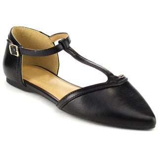 Beston Women's D'Orsay Flats